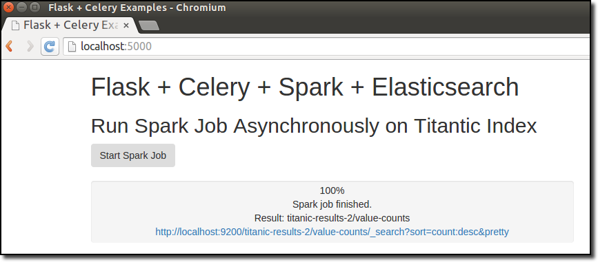 Running Asynchronous Apache Spark Jobs with Flask, Celery